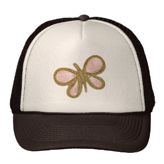 Pretty Pink Shiny Butterfly Hat