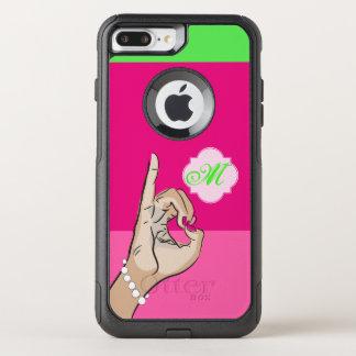 Pretty pink sitting OtterBox commuter iPhone 8 plus/7 plus case