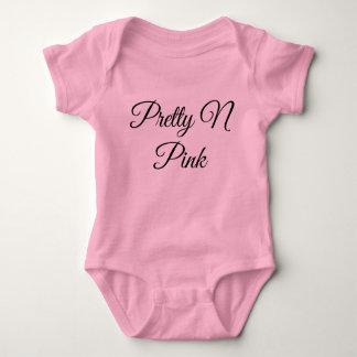 Pretty Pink Sleeper Baby Bodysuit