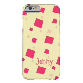 Pretty Pink Square Confetti Add your Name Girl's Barely There iPhone 6 Case