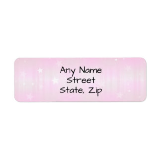 Pretty pink star background labels