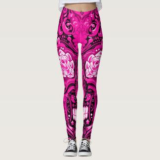 Pretty Pink Sugar Skull Leggings