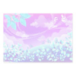 pretty pink summer fantasy landscape design pack of chubby business cards