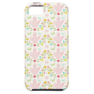 Pretty pink teapots iPhone 5 cover