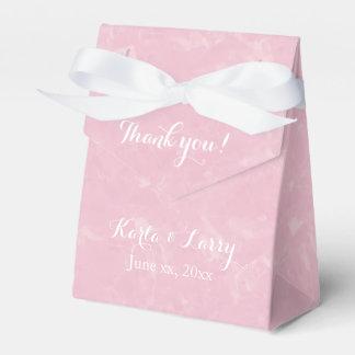 Pretty Pink Thank You Floral Favour Box