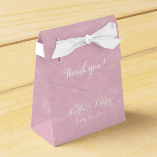 Pretty Pink Thank You Floral Party Favour Box