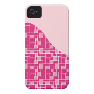 Pretty Pink Tile Wave Pattern Gifts for Her iPhone 4 Case-Mate Case