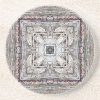 Pretty Pink Tinged Aztec Inspired Pattern Coaster