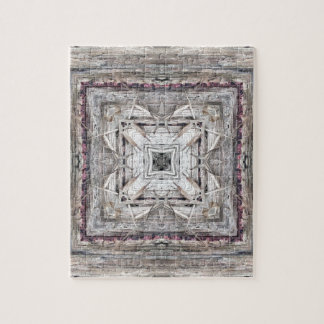 Pretty Pink Tinged Aztec Inspired Pattern Jigsaw Puzzle