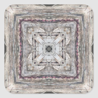 Pretty Pink Tinged Aztec Inspired Pattern Square Sticker