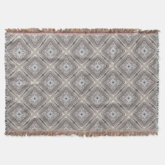 Pretty Pink Tinged Aztec Inspired Pattern Throw Blanket