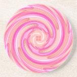 Pretty pink tones girly swirl drink coasters