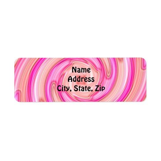 Pretty pink tones girly swirl return address label