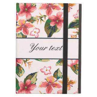 Pretty Pink Tropical Flower Pattern iPad Air Cover