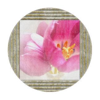 Pretty Pink Tulips Cutting Board