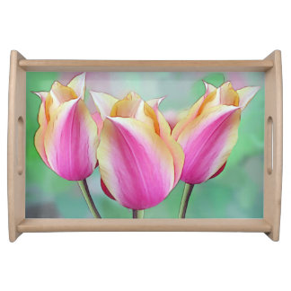 Pretty Pink Tulips Serving Tray