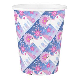 Pretty Pink Unicorn Paper Cup