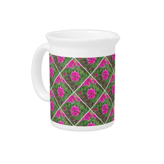 Pretty pink verbena flowers floral photo beverage pitchers