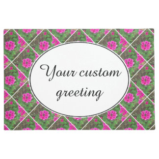 Pretty pink verbena flowers floral photo doormat