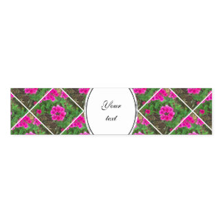 Pretty pink verbena flowers floral photo napkin band