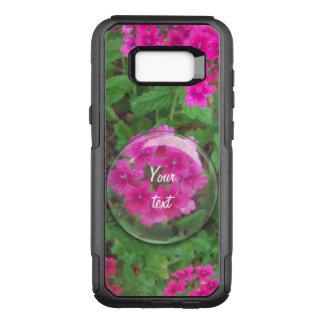 Pretty pink verbena flowers floral photo OtterBox commuter samsung galaxy s8+ case