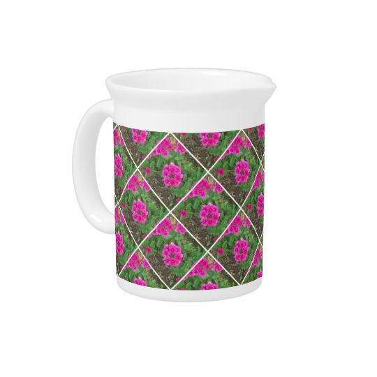 Pretty pink verbena flowers floral photo pitcher