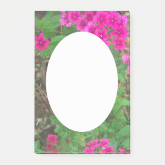 Pretty pink verbena flowers floral photo post-it notes