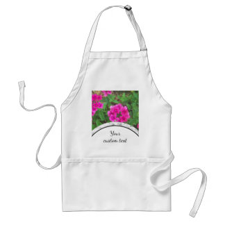 Pretty pink verbena flowers floral photo standard apron