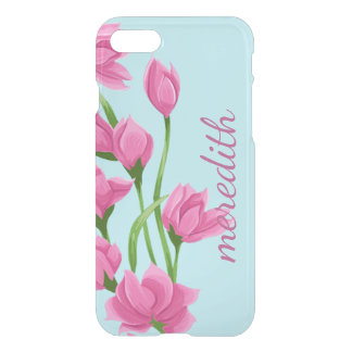 Pretty Pink Watercolor Flowers And Buds iPhone 8/7 Case