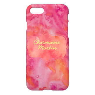 Pretty Pink Watercolor iPhone 7 Case