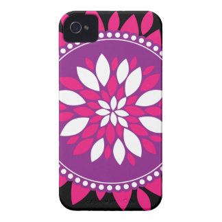 Pretty Pink White Purple Flower Mandala Circle Case-Mate iPhone 4 Cases