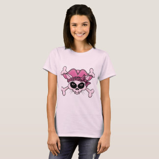 Pretty Pirate Kitty Skull T-Shirt