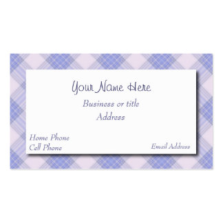 Pretty Plaid Business Card