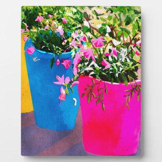 Pretty Plant Pots Plaque
