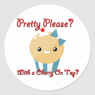 Pretty Please Cherry On Top Muffin Girl Stickers