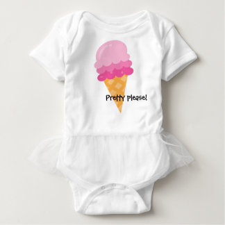 Pretty Please Pink Ice Cream Baby Tutu Baby Bodysuit