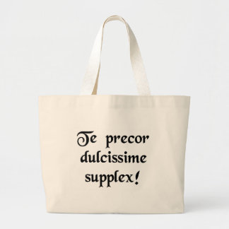 Pretty please with a cherry on top! jumbo tote bag