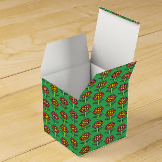 Pretty Poinsettia Favour Box