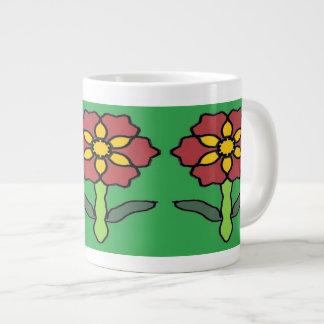 Pretty Poinsettia Large Coffee Mug