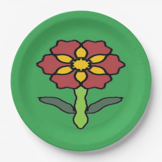 Pretty Poinsettia Paper Plate