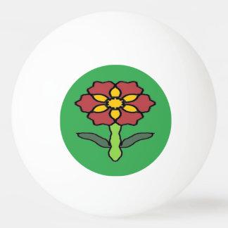 Pretty Poinsettia Ping Pong Ball