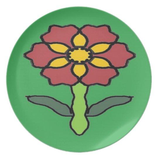 Pretty Poinsettia Plate