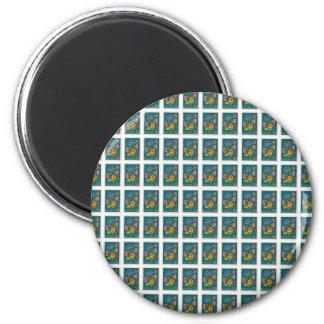 Pretty Poland Stamp 6 Cm Round Magnet