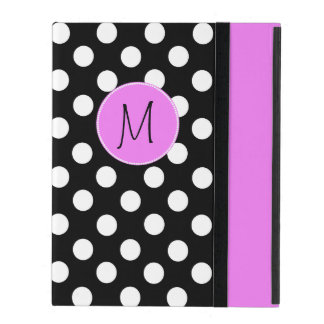 Pretty Polka Dot Monogram iPad Case