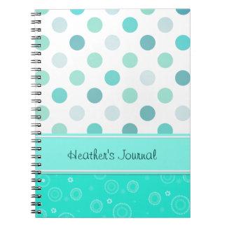 Pretty Polka Dot Notebook
