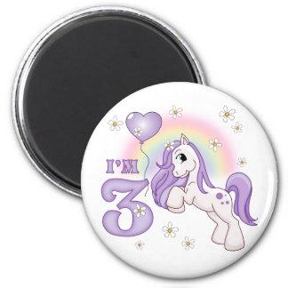 Pretty Pony 3rd Birthday Magnet