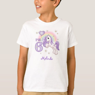 Pretty Pony 6th Birthday Personalized T-Shirt