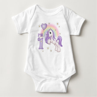 Pretty Pony First Birthday Baby Bodysuit