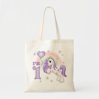 Pretty Pony First Birthday Tote Bag