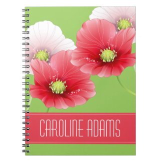 Pretty Poppies Floral Monogram Notebooks
